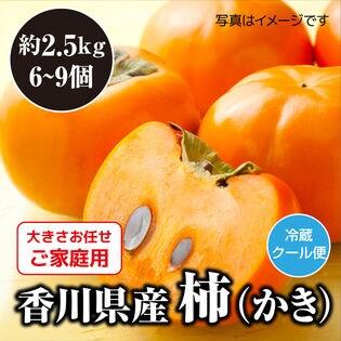 【予約】10/1~順次出荷 2箱同時申込で2kgおまけ【約2.5kg】香川県柿(ご家庭・不揃い)