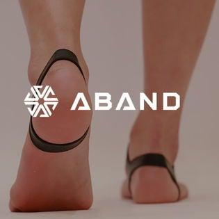 【L/半透明】ABAND アンクルバンド /生活を「カンタンに」サポート◎