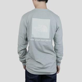 Sサイズ[THE NORTH FACE]Tシャツ M L/S BOX NSE TEE ライトグレー