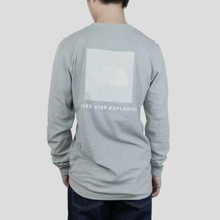 Lサイズ[THE NORTH FACE]Tシャツ M L/S BOX NSE TEE ライトグレー