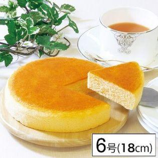 【6号】常温で保存出来るチーズケーキ 直径18cm×1個/しっとりふわふわのキメ細かな生地が特徴
