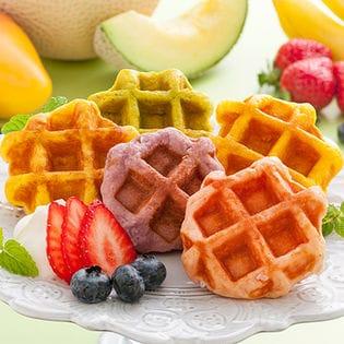 【1箱(20個入り)】果実のキモチ フルーツミニワッフル(YJ-FWO)カラフルで可愛いミニサイズ♪