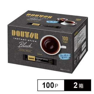 【2g×200袋】DOUTORドトール インスタントスティック ブラック/100パック入×2箱