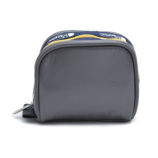 [LeSportsac]ポーチ PIPED SQ COSMETIC グレー