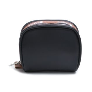 [LeSportsac]ポーチ PIPED SQ COSMETIC ブラック
