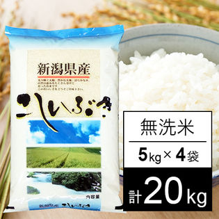【20kg】 越後の米 令和3年産 新潟県産 こしいぶき 無洗米 5kgx4袋