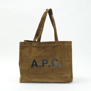 【A.P.C】トートバッグ CORDUROY DIANE SHOPPING BAG カーキブラウン