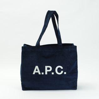 【A.P.C】トートバッグ CORDUROY DIANE SHOPPING BAG ネイビー