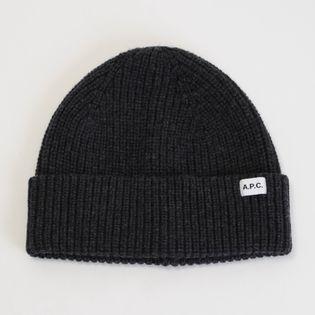 【A.P.C】ニット帽 NEW BILLIE KNIT CAP 杢チャコールグレー