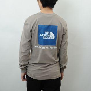 Lサイズ【THE NORTH FACE】Tシャツ M L/S BOX NSE TEE グレージュ