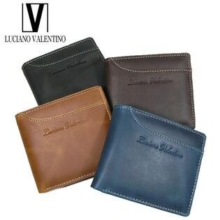 ルチアーノバレンチノ 牛革折財布