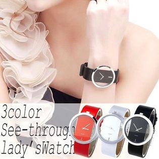 上品シースルー2針ウォッチ SPST001 レディース腕時計