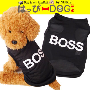 ドッグウェア 春夏でも着れる薄手のタンクトップです BOSSのロゴがとってもおしゃれ