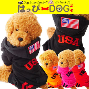 ドッグウェア USAロゴが可愛い つなぎタイプのワンちゃん服です。