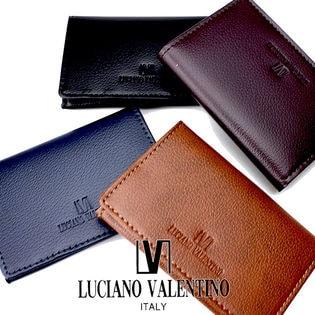 ブランド LUCIANO VALENTINO【メンズ 名刺入れ カードケース】ボンデッドレザー