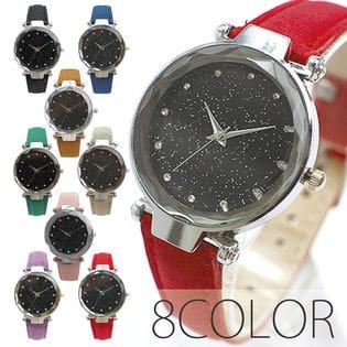 まるで宇宙の輝き シルバー SPST030 レディース腕時計