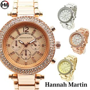 ラインストーンで艶やか&ゴージャス HM005 Hannah Martin レディース腕時計