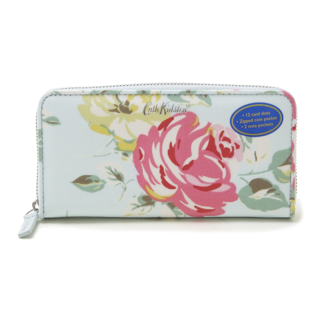 [Cath Kidston]CONTINENTAL ZIP WALLET 長財布 / ライトブルー